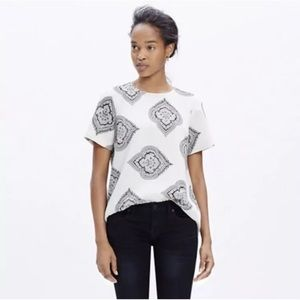 Madewell Tailored Tee Estate Paisley